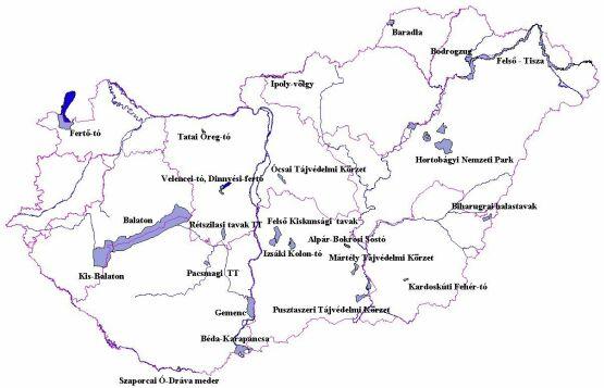 magyarország tavai térkép Ramsar magyarország tavai térkép